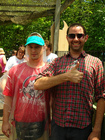 Me and a happy guy at Silver Dollar City