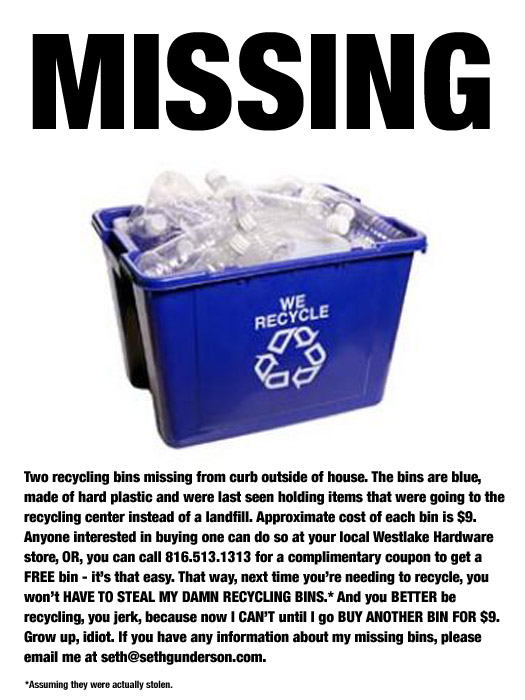 Missing Recycle Bins