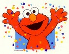Elmo says, Happy Birthday!